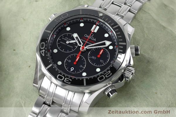 Used luxury watch Omega Seamaster chronograph steel automatic Kal. 3330 Ref. 21230445001001  | 152195 01