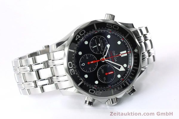 Used luxury watch Omega Seamaster chronograph steel automatic Kal. 3330 Ref. 21230445001001  | 152195 03