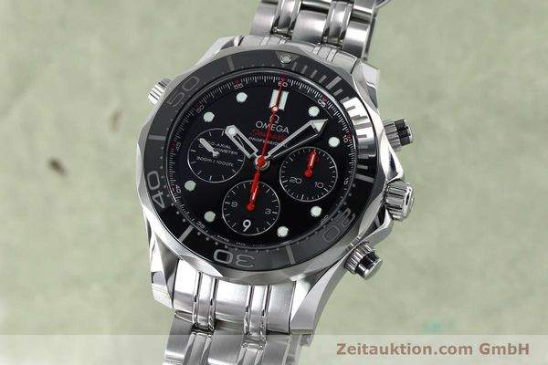 Used luxury watch Omega Seamaster chronograph steel automatic Kal. 3330 Ref. 21230445001001  | 152195 04