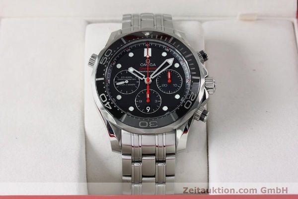 Used luxury watch Omega Seamaster chronograph steel automatic Kal. 3330 Ref. 21230445001001  | 152195 07