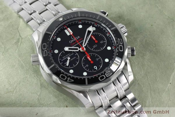 Used luxury watch Omega Seamaster chronograph steel automatic Kal. 3330 Ref. 21230445001001  | 152195 17