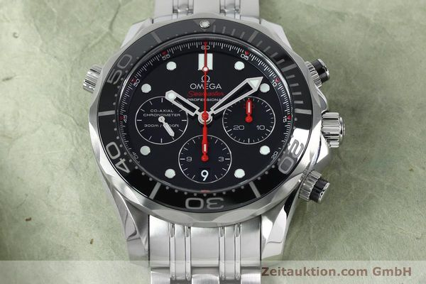 Used luxury watch Omega Seamaster chronograph steel automatic Kal. 3330 Ref. 21230445001001  | 152195 18