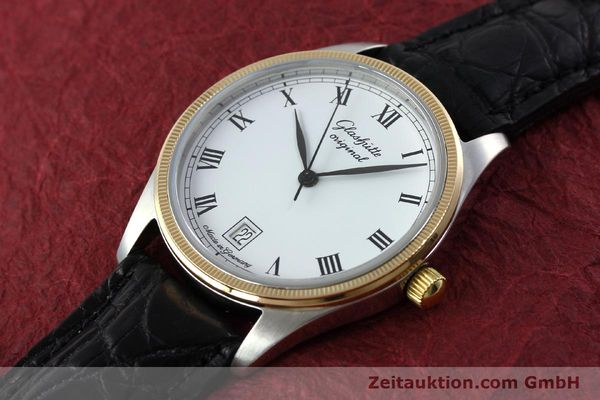 Used luxury watch Glashütte Senator steel / gold manual winding Kal. GUB 12-50  | 152203 01