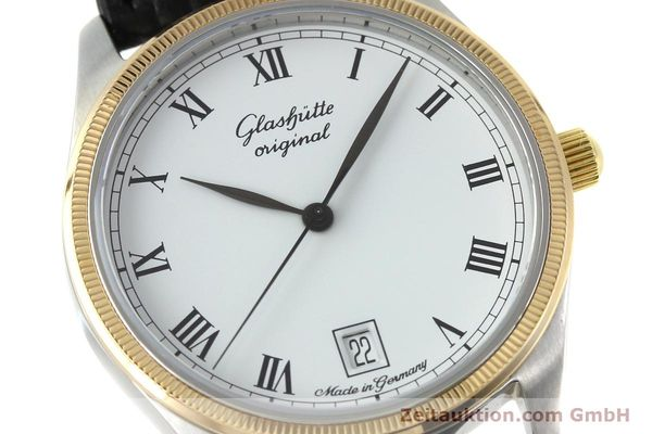 Used luxury watch Glashütte Senator steel / gold manual winding Kal. GUB 12-50  | 152203 02
