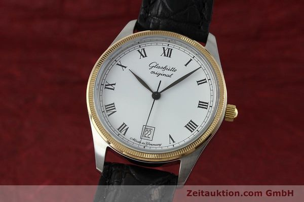 Used luxury watch Glashütte Senator steel / gold manual winding Kal. GUB 12-50  | 152203 04