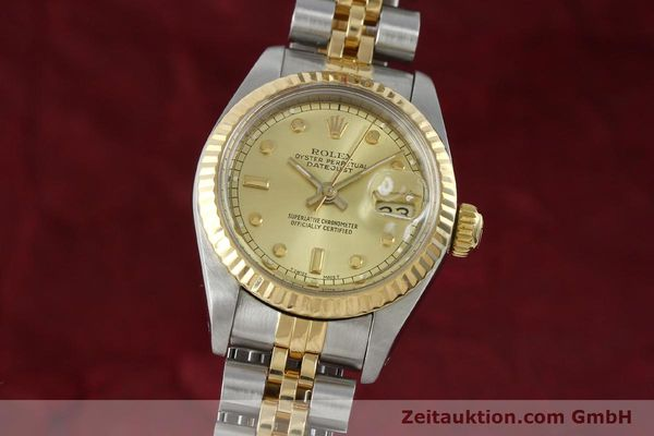 montre de luxe d occasion Rolex Datejust acier / or  automatique Kal. 2135 Ref. 69173  | 152205 04