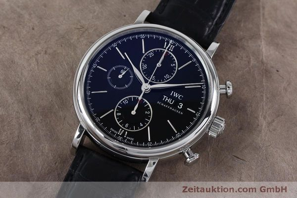 Used luxury watch IWC Portofino chronograph steel automatic Kal. 79320 Ref. 3910  | 152208 01