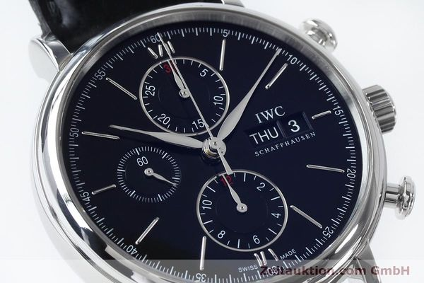 Used luxury watch IWC Portofino chronograph steel automatic Kal. 79320 Ref. 3910  | 152208 02