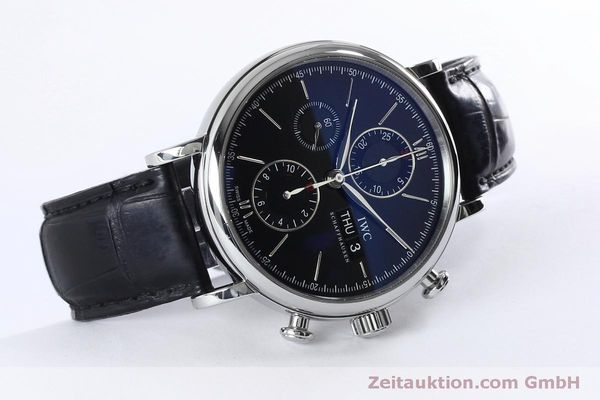 Used luxury watch IWC Portofino chronograph steel automatic Kal. 79320 Ref. 3910  | 152208 03