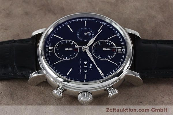 Used luxury watch IWC Portofino chronograph steel automatic Kal. 79320 Ref. 3910  | 152208 05