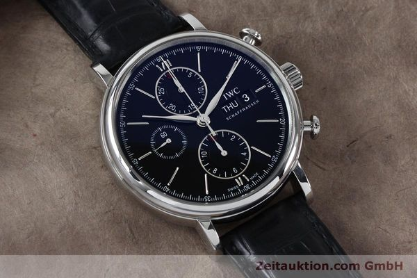 Used luxury watch IWC Portofino chronograph steel automatic Kal. 79320 Ref. 3910  | 152208 16