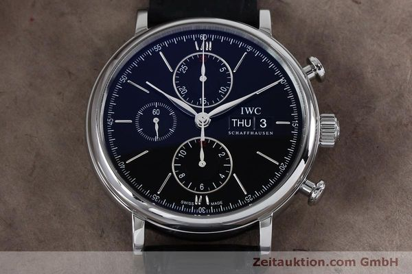 Used luxury watch IWC Portofino chronograph steel automatic Kal. 79320 Ref. 3910  | 152208 17