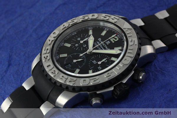 Used luxury watch Blancpain Air Command chronograph steel automatic Kal. F185  | 152220 01