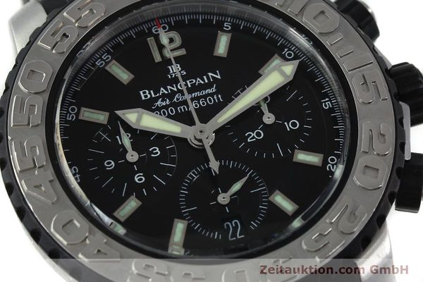 Used luxury watch Blancpain Air Command chronograph steel automatic Kal. F185  | 152220 02