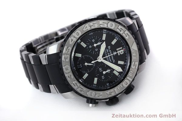 Used luxury watch Blancpain Air Command chronograph steel automatic Kal. F185  | 152220 03