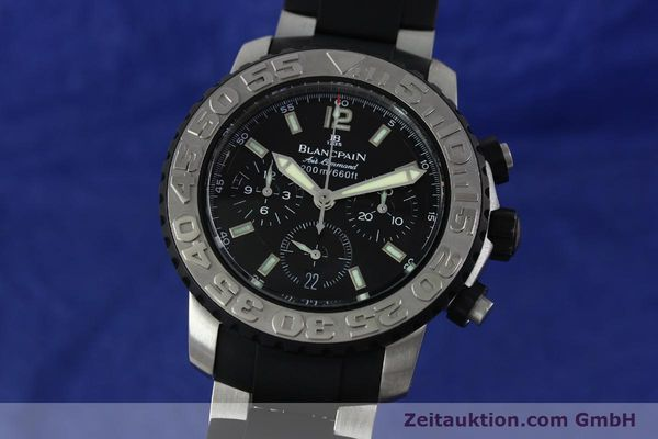 Used luxury watch Blancpain Air Command chronograph steel automatic Kal. F185  | 152220 04