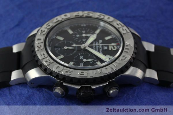 Used luxury watch Blancpain Air Command chronograph steel automatic Kal. F185  | 152220 05