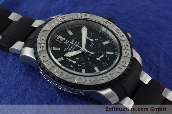 Used luxury watch Blancpain Air Command chronograph steel automatic Kal. F185  | 152220 15