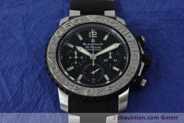 Used luxury watch Blancpain Air Command chronograph steel automatic Kal. F185  | 152220 16