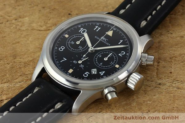 Used luxury watch IWC Fliegerchronograph chronograph steel quartz Kal. 630 Ref. 3741  | 152225 01
