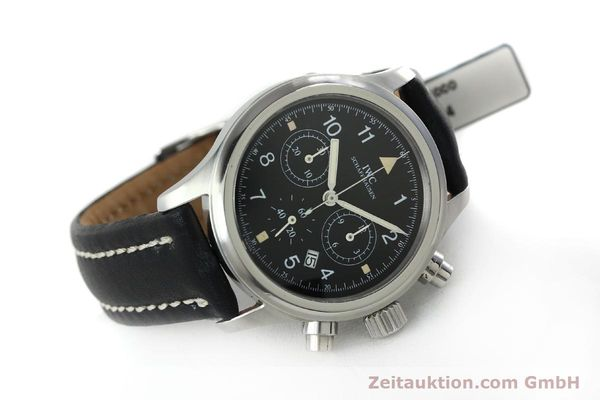 Used luxury watch IWC Fliegerchronograph chronograph steel quartz Kal. 630 Ref. 3741  | 152225 03