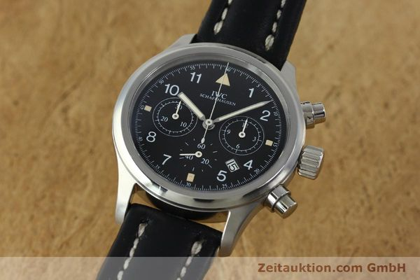 Used luxury watch IWC Fliegerchronograph chronograph steel quartz Kal. 630 Ref. 3741  | 152225 04