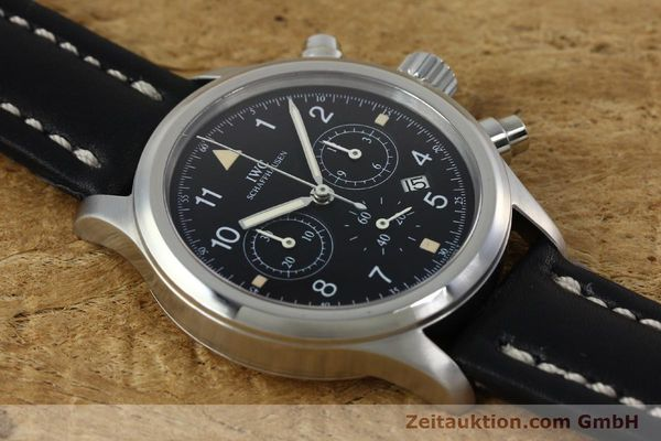 Used luxury watch IWC Fliegerchronograph chronograph steel quartz Kal. 630 Ref. 3741  | 152225 14