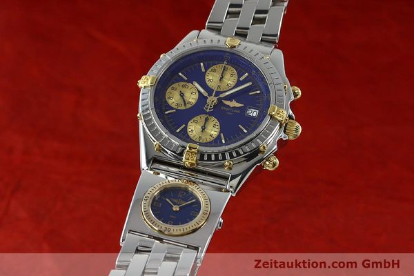 Used luxury watch Breitling Chronomat chronograph steel / gold automatic Kal. B13 ETA 7750 Ref. B13050.1  | 152229 04