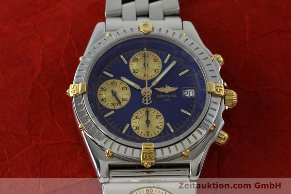 Used luxury watch Breitling Chronomat chronograph steel / gold automatic Kal. B13 ETA 7750 Ref. B13050.1  | 152229 14