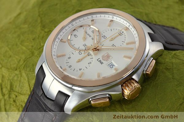 Used luxury watch Tag Heuer Link chronograph steel / gold automatic Kal. 16 Sellita SW500 Ref. CAT2050  | 152230 01