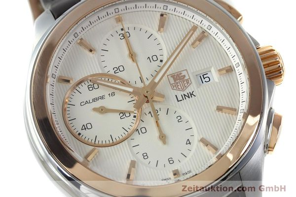 Used luxury watch Tag Heuer Link chronograph steel / gold automatic Kal. 16 Sellita SW500 Ref. CAT2050  | 152230 02