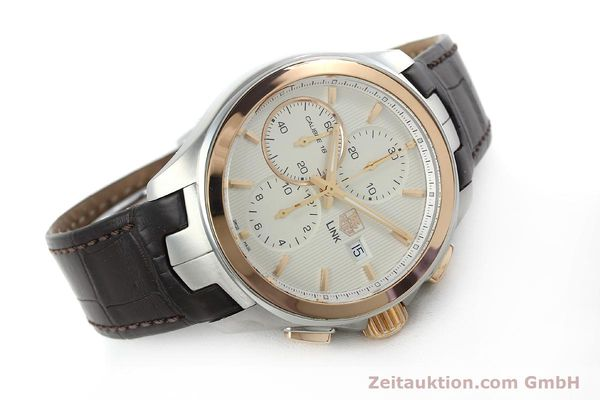 Used luxury watch Tag Heuer Link chronograph steel / gold automatic Kal. 16 Sellita SW500 Ref. CAT2050  | 152230 03