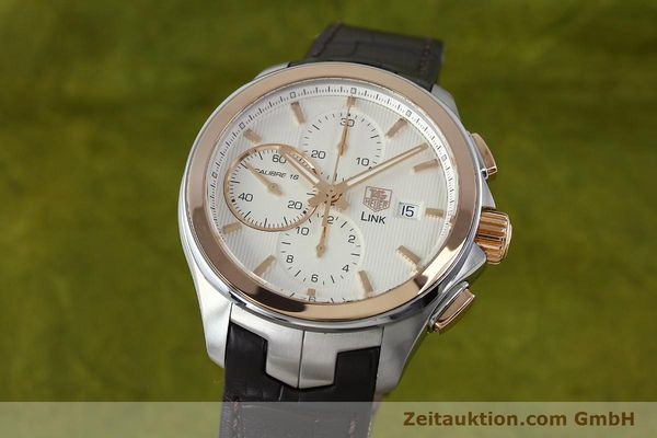 Used luxury watch Tag Heuer Link chronograph steel / gold automatic Kal. 16 Sellita SW500 Ref. CAT2050  | 152230 04