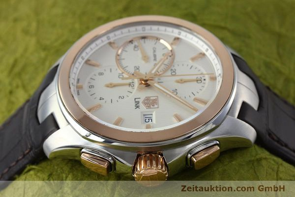Used luxury watch Tag Heuer Link chronograph steel / gold automatic Kal. 16 Sellita SW500 Ref. CAT2050  | 152230 05