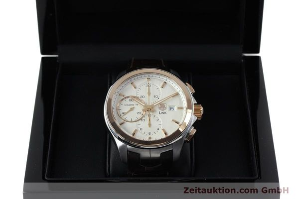Used luxury watch Tag Heuer Link chronograph steel / gold automatic Kal. 16 Sellita SW500 Ref. CAT2050  | 152230 07