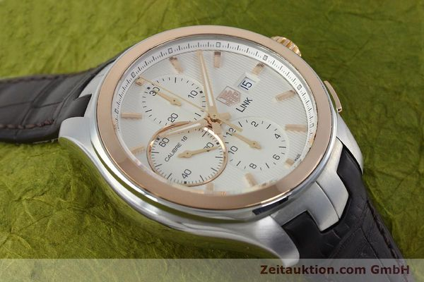 Used luxury watch Tag Heuer Link chronograph steel / gold automatic Kal. 16 Sellita SW500 Ref. CAT2050  | 152230 14