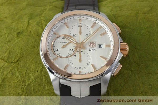 Used luxury watch Tag Heuer Link chronograph steel / gold automatic Kal. 16 Sellita SW500 Ref. CAT2050  | 152230 15