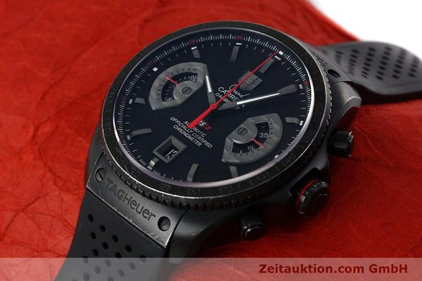 Used luxury watch Tag Heuer Carrera chronograph titanium automatic Kal. 17 ETA 2824-2 Ref. CAV518B  | 152231 01