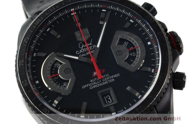 Used luxury watch Tag Heuer Carrera chronograph titanium automatic Kal. 17 ETA 2824-2 Ref. CAV518B  | 152231 02
