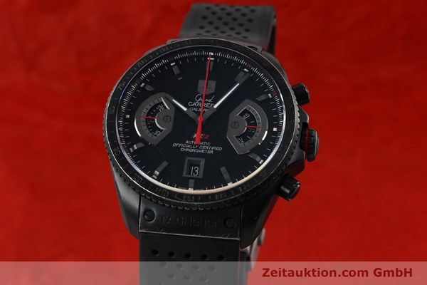 Used luxury watch Tag Heuer Carrera chronograph titanium automatic Kal. 17 ETA 2824-2 Ref. CAV518B  | 152231 04
