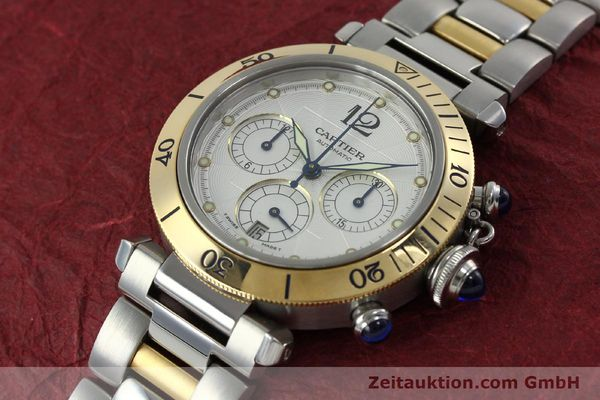 Used luxury watch Cartier Pasha chronograph steel / gold automatic Kal. 205  | 152233 01