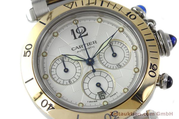 Used luxury watch Cartier Pasha chronograph steel / gold automatic Kal. 205  | 152233 02