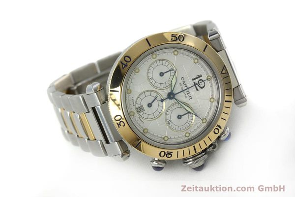 Used luxury watch Cartier Pasha chronograph steel / gold automatic Kal. 205  | 152233 03