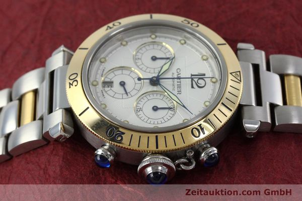 Used luxury watch Cartier Pasha chronograph steel / gold automatic Kal. 205  | 152233 05