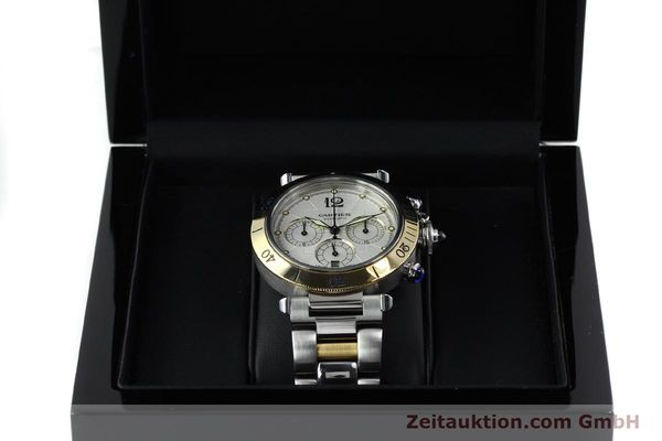 Used luxury watch Cartier Pasha chronograph steel / gold automatic Kal. 205  | 152233 07