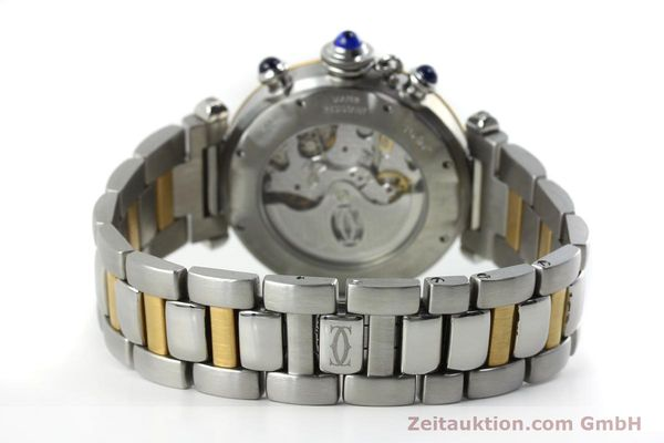 Used luxury watch Cartier Pasha chronograph steel / gold automatic Kal. 205  | 152233 11