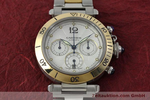 Used luxury watch Cartier Pasha chronograph steel / gold automatic Kal. 205  | 152233 15