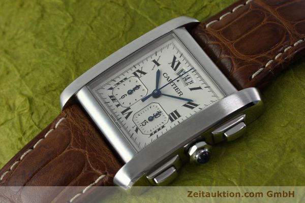 Used luxury watch Cartier Tank chronograph steel quartz Kal. 222 Ref. 2531   | 152235 01
