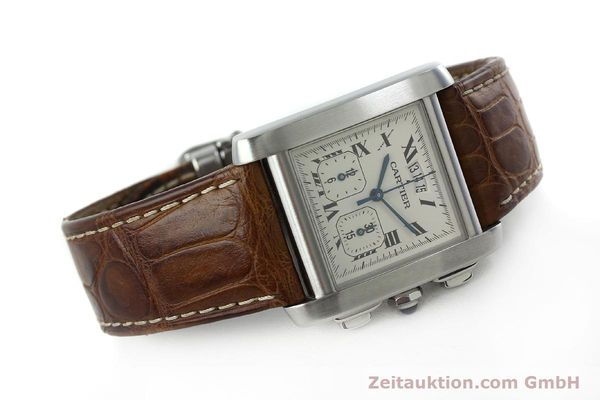 Used luxury watch Cartier Tank chronograph steel quartz Kal. 222 Ref. 2531   | 152235 03