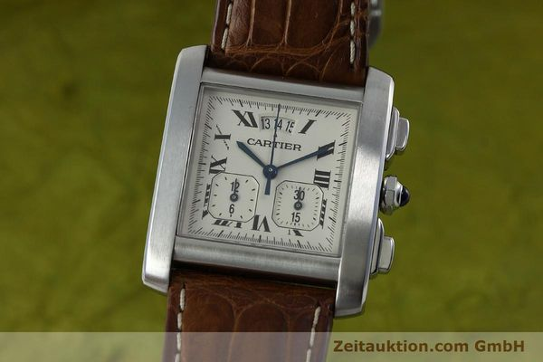 Used luxury watch Cartier Tank chronograph steel quartz Kal. 222 Ref. 2531   | 152235 04